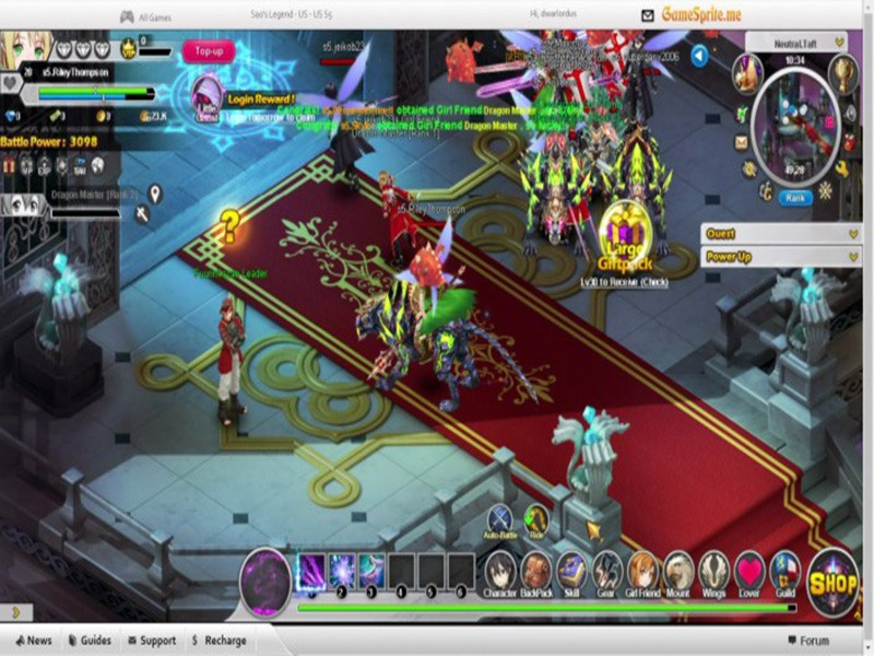 Sao's Legend - Online Game Like Sword Art Online - Game
